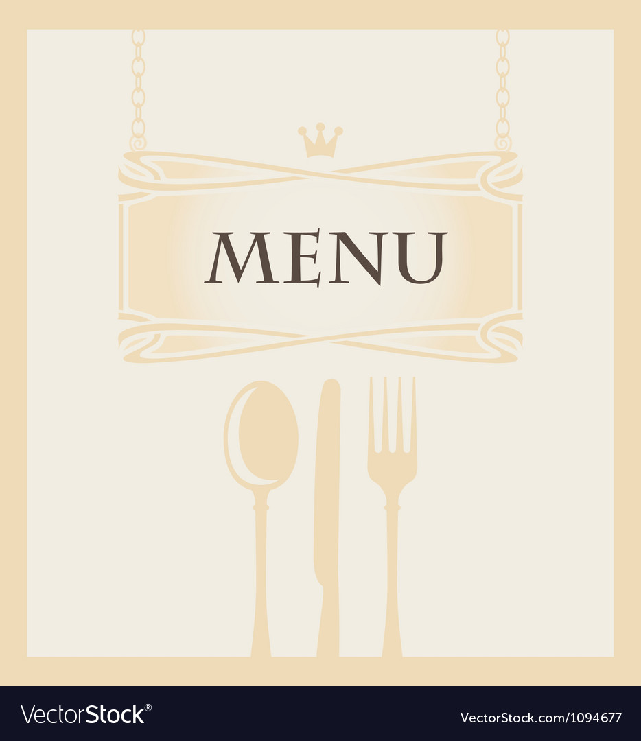 Cutlery and a crown vector image