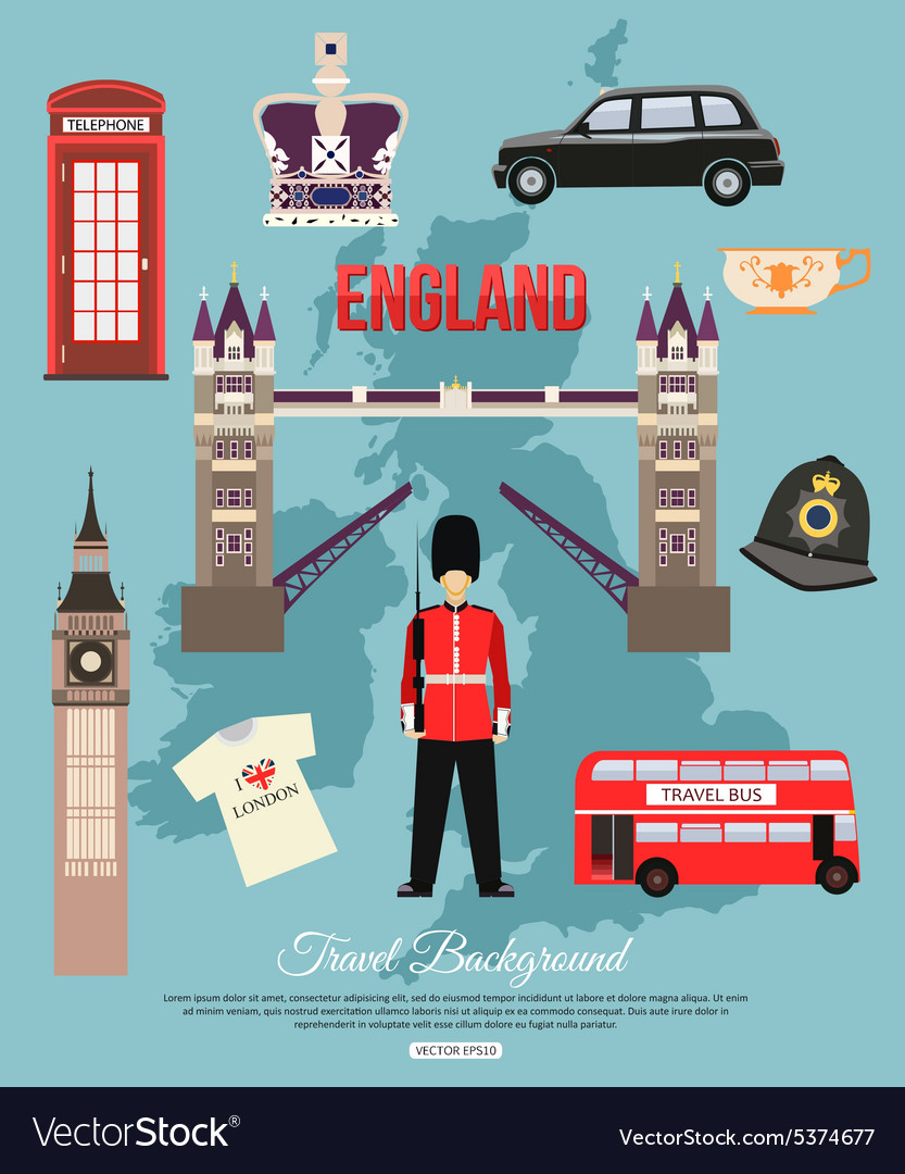 England travel background with place for text Set