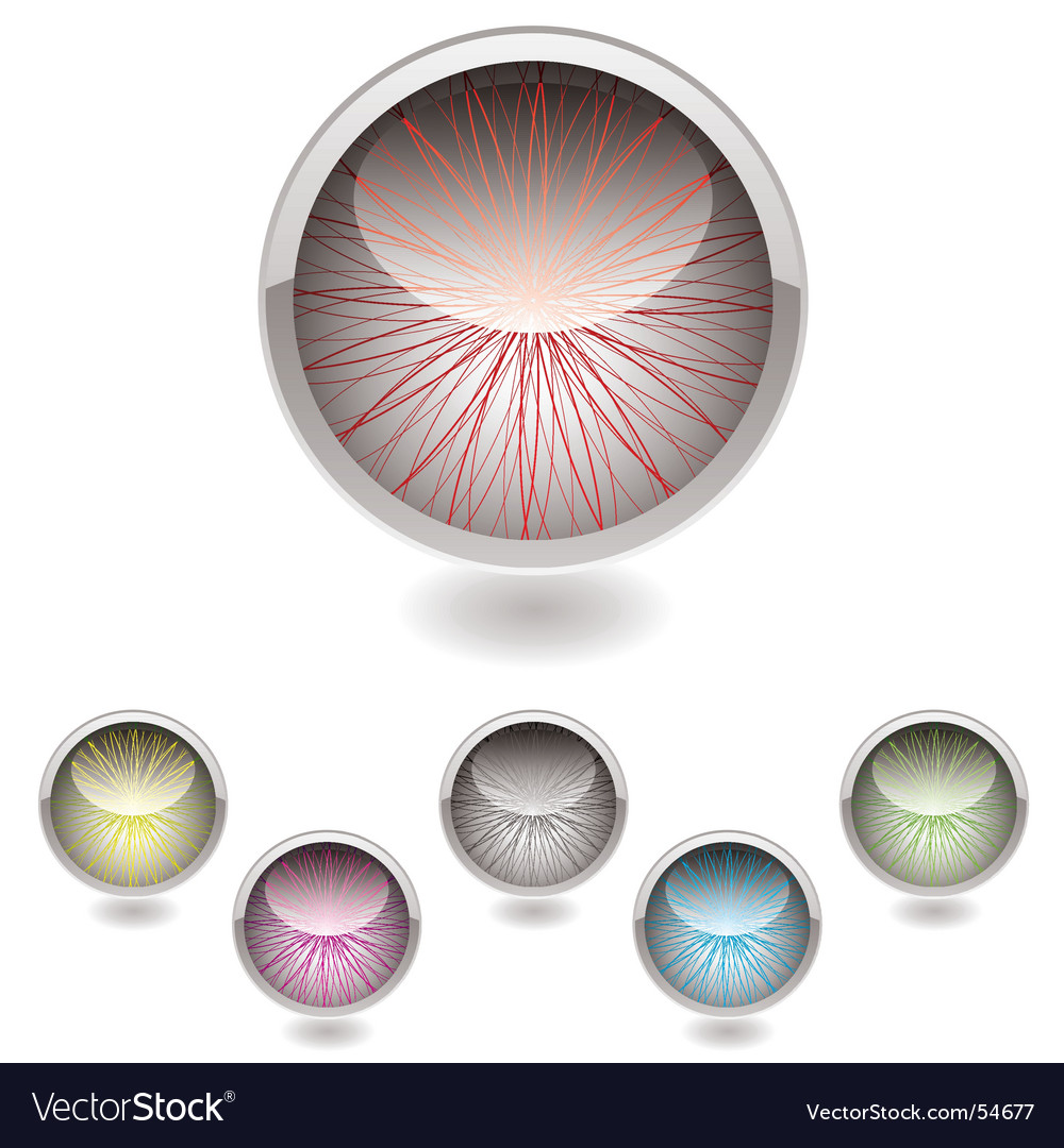 Iris button collection vector image