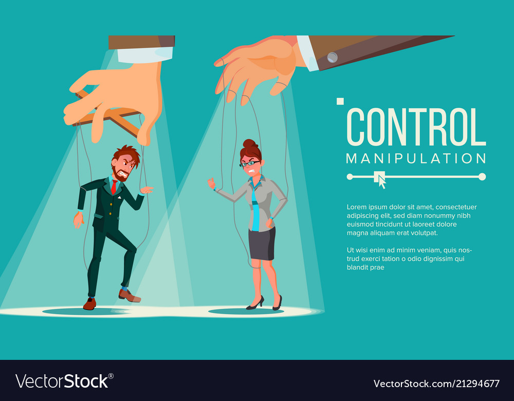 Manipulation concept business people being