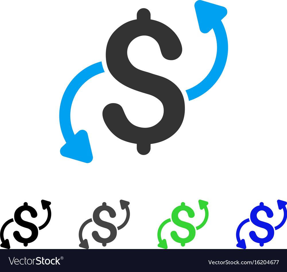 Money transfer flat icon vector image