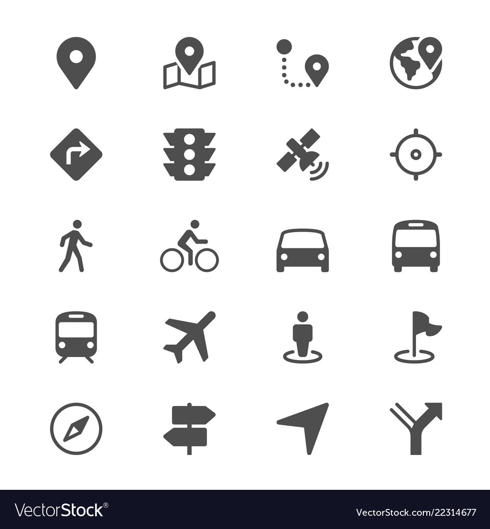 Navigation glyph icons