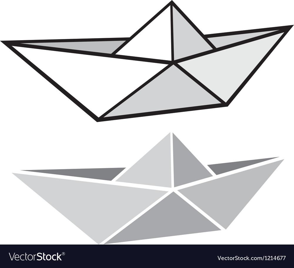 Origami Paper Boat Royalty Free Vector Image Vectorstock