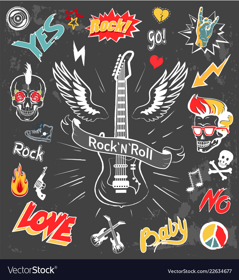 Rock-n-roll forever badges