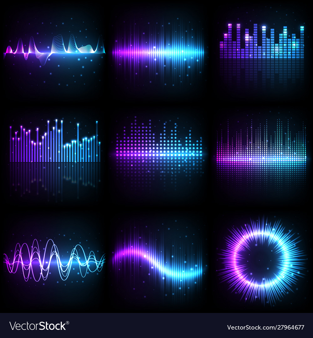Sound wave music audio equalizer frequency
