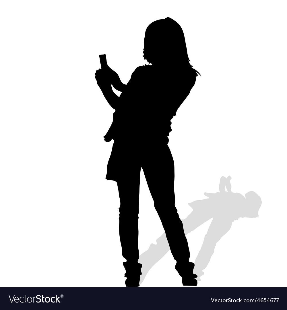 Woman art silhouete