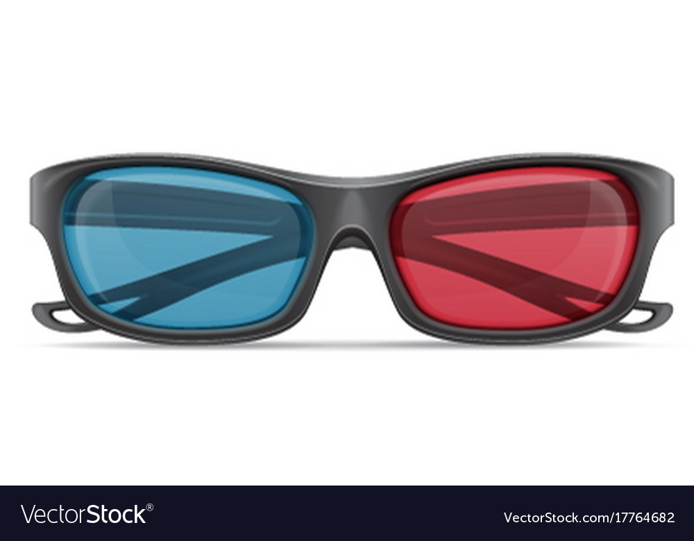 3d plastic glasses stock