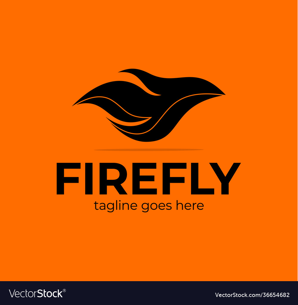 Abstract colorful ornate fly flame wave logo