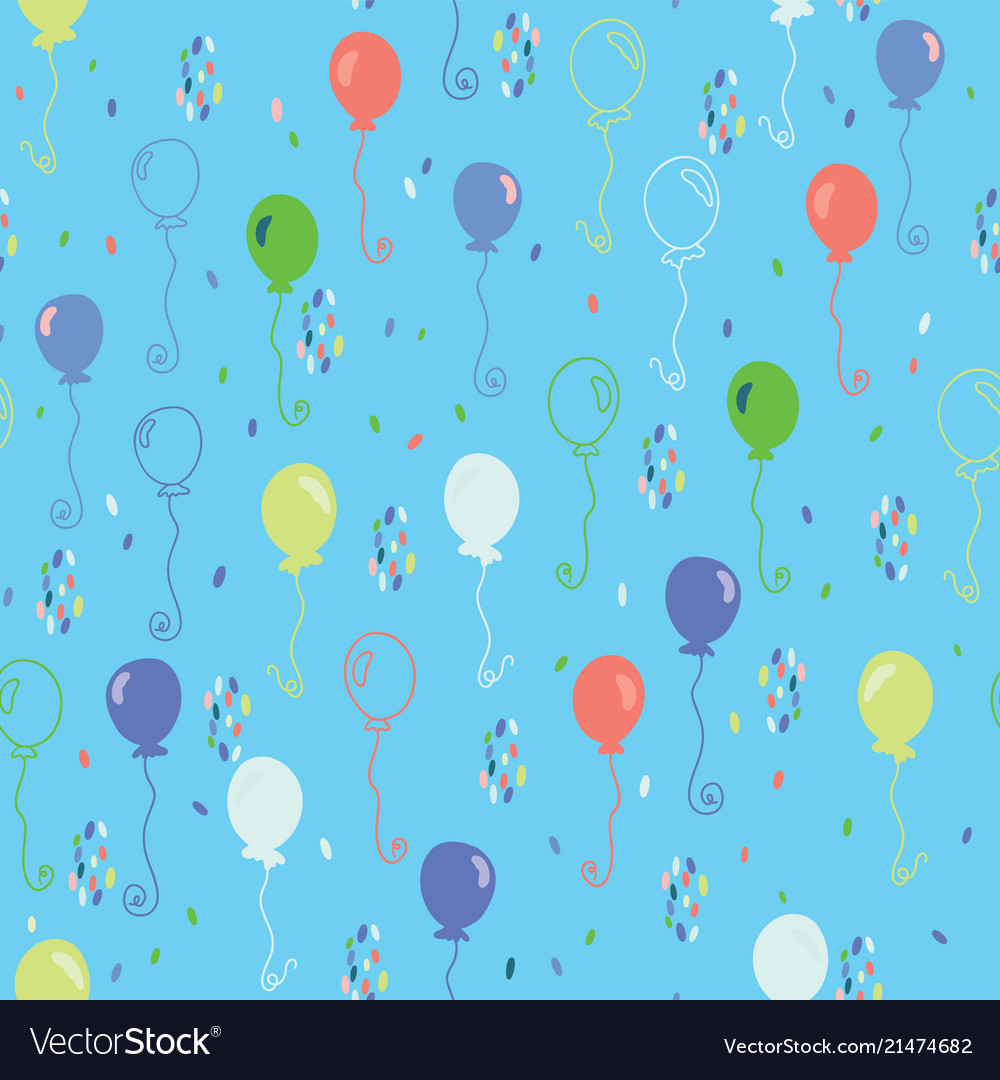 Bright party balloons pattern