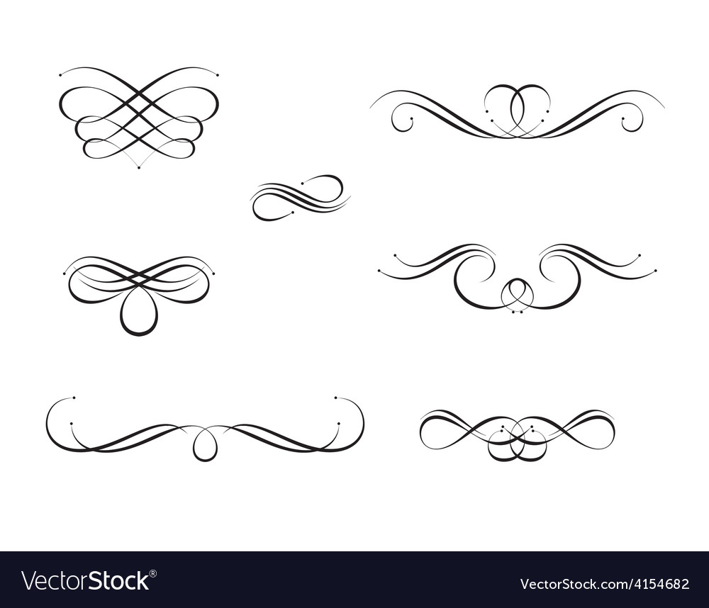 calligraphy swirls royalty free vector image vectorstock rh vectorstock com vector swirls png vector swirls png