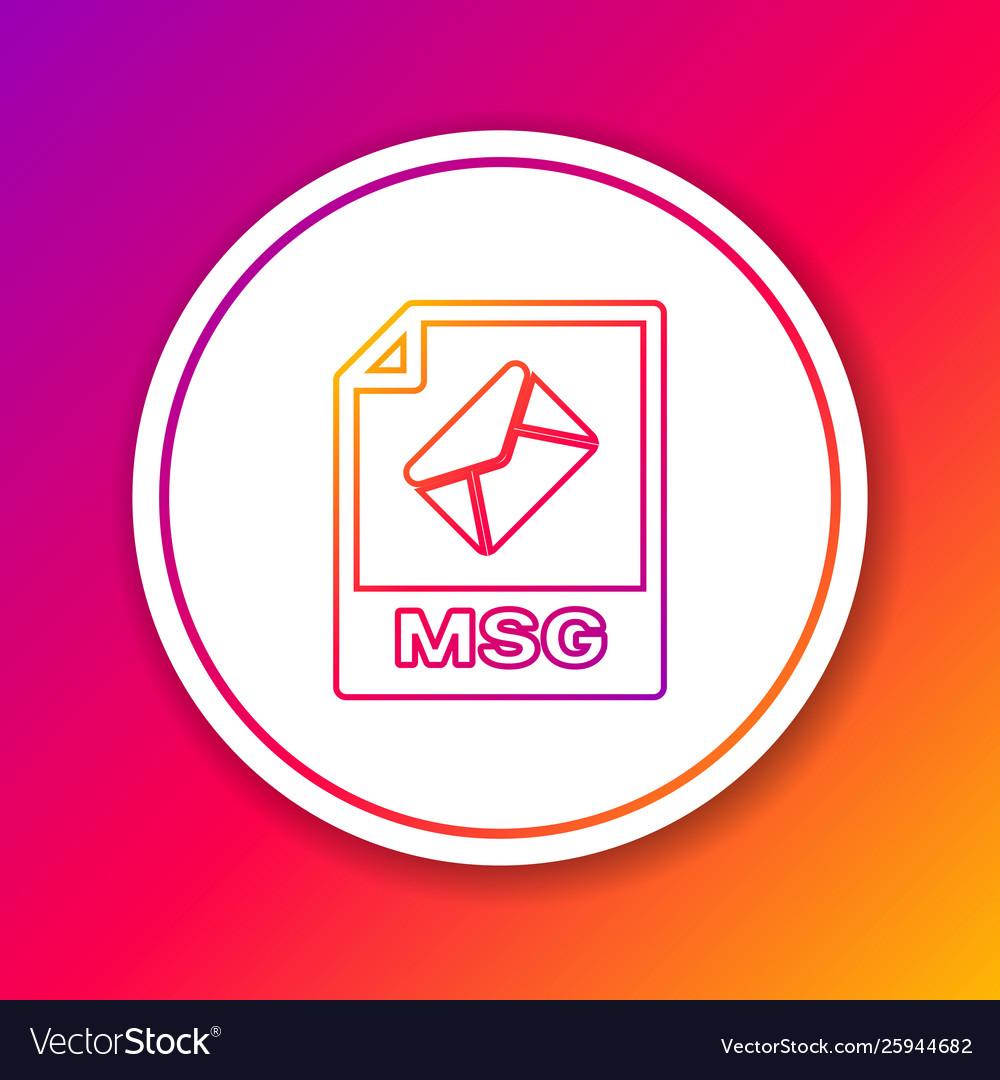 Color msg file document icon download msg button