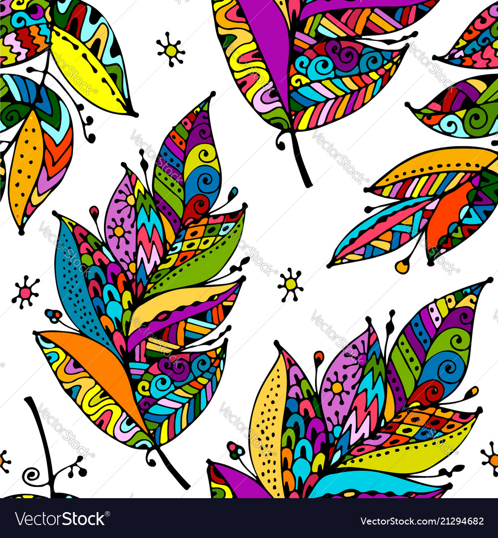 Feathers seamless pattern for your design