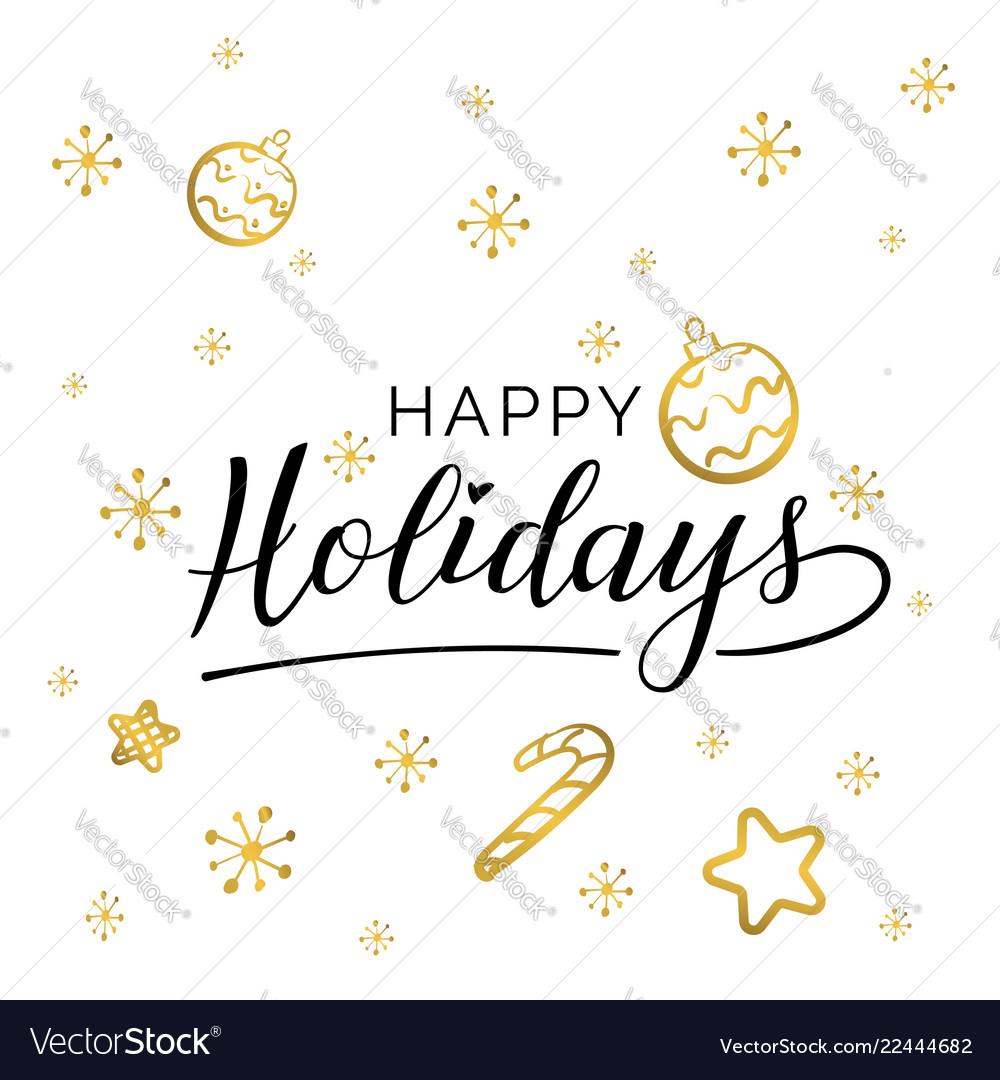 Happy holidays beautiful greeting card