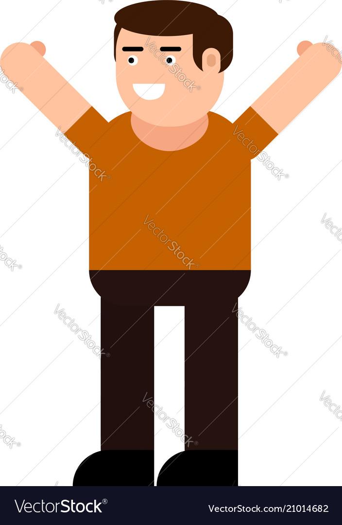 Happy man icon