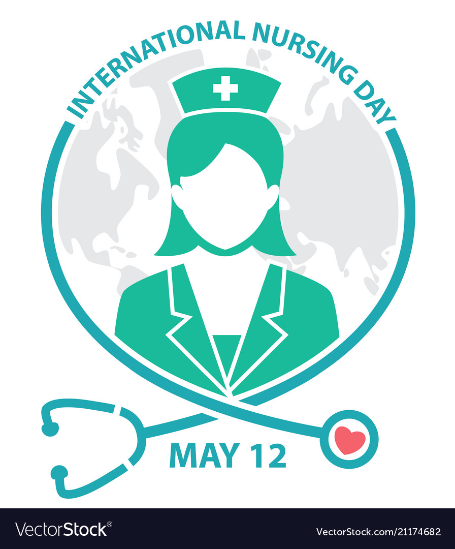 International Nursing Day Symbol Logo Concept Vector Image