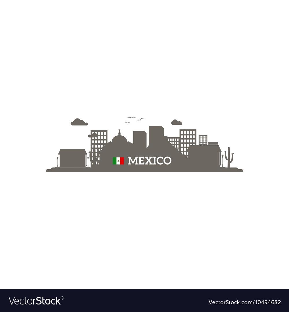 Mexico skyline silhouette