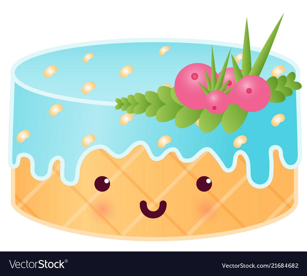 Sweet cute cake with berries