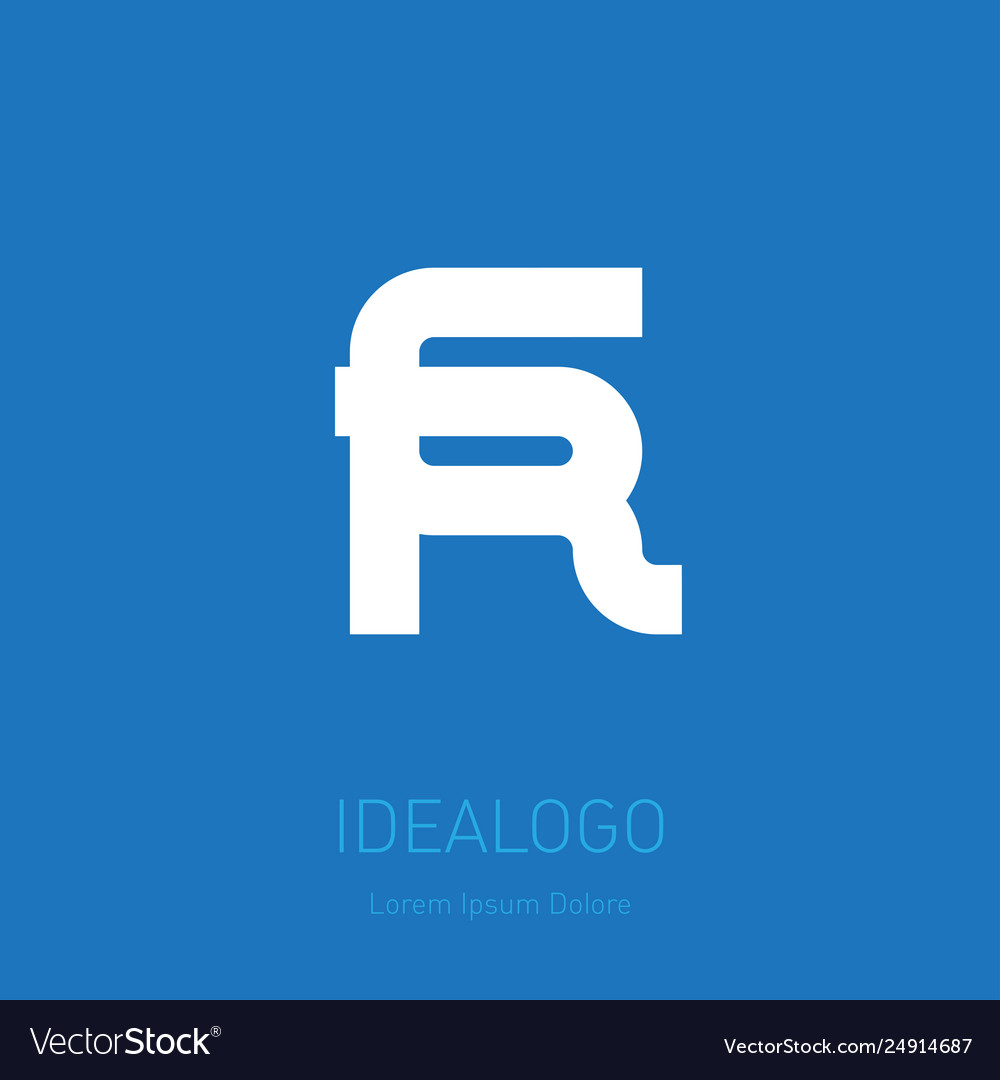 6 and r logo 6r - design element or icon monogram