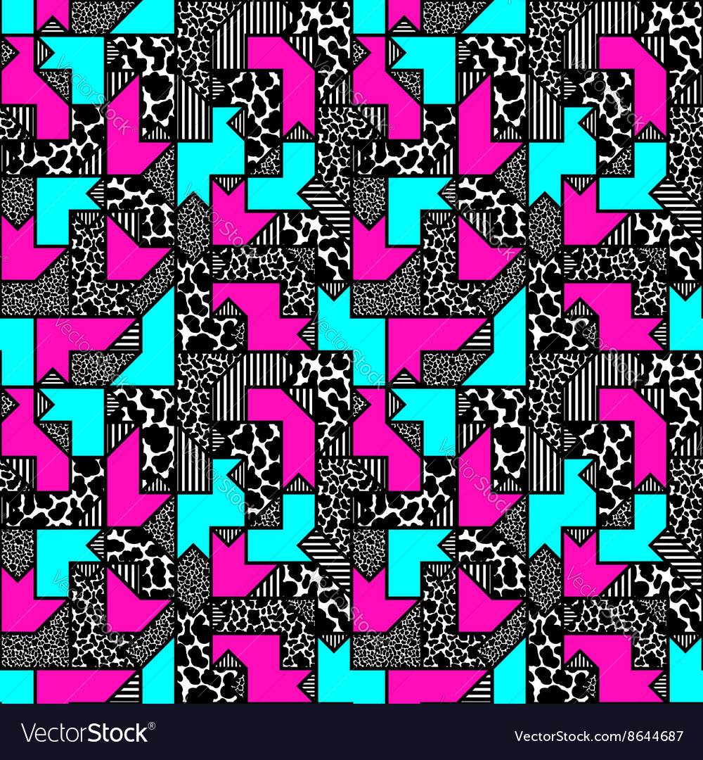 Abstract bright colored geometric pattern in style vector image
