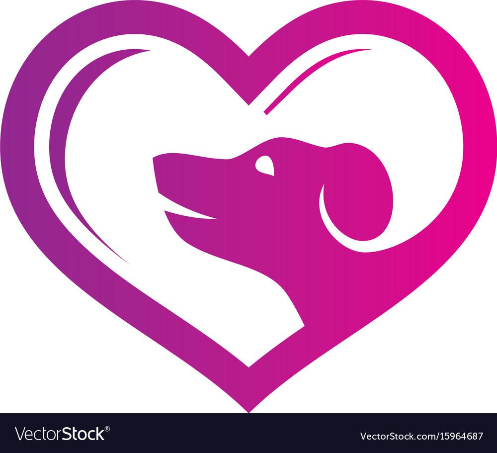 Abstract pet shop love logo