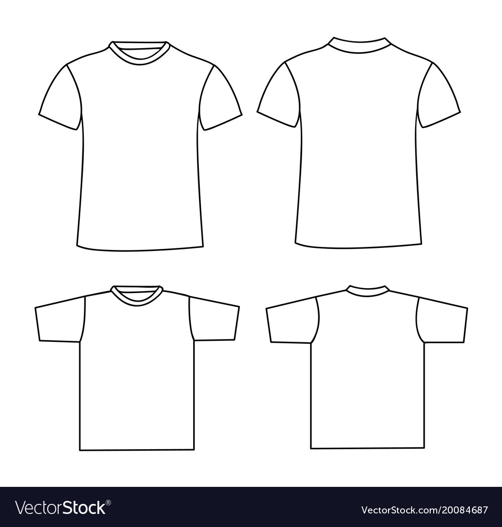 Blank t-shirt template front and back Royalty Free Vector