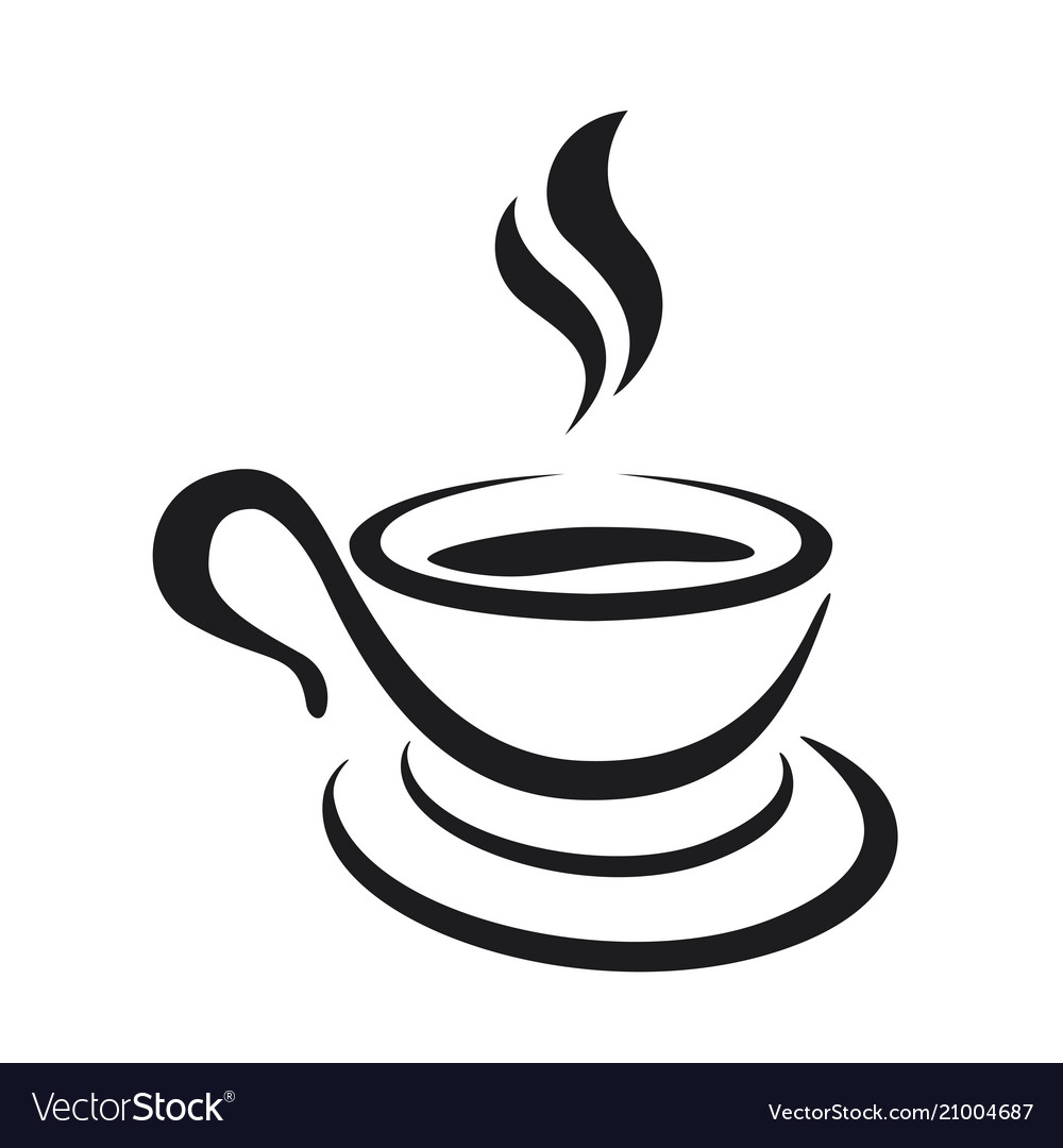 Coffee cup icon on a white background