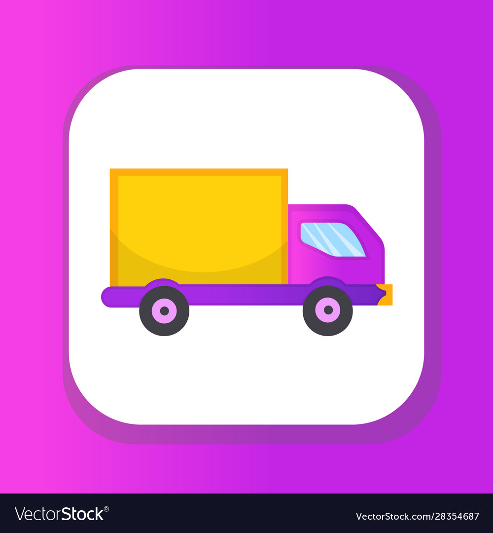 Delivery truck icon flat style lorry