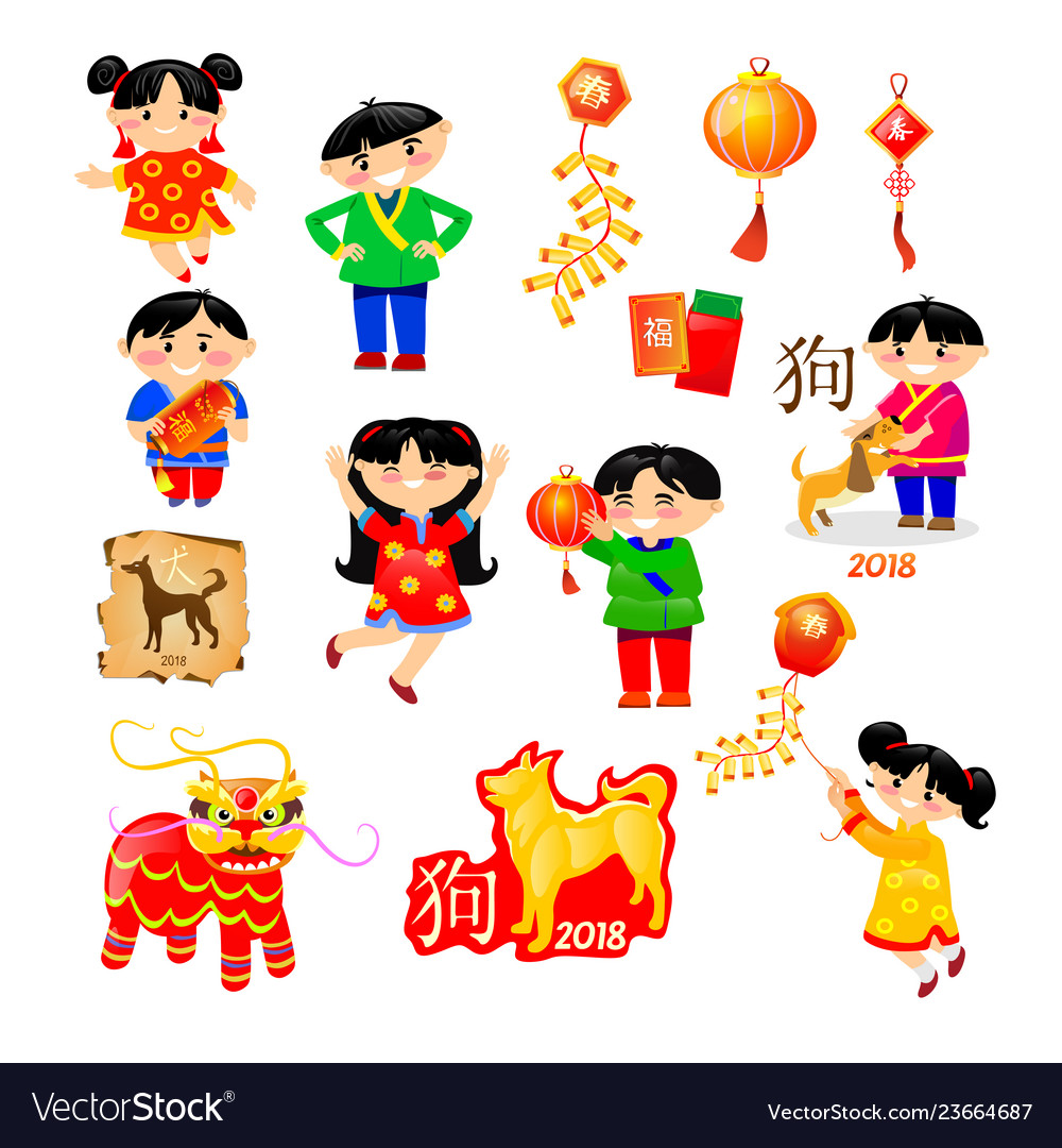 Elements of japanese and chinese new year