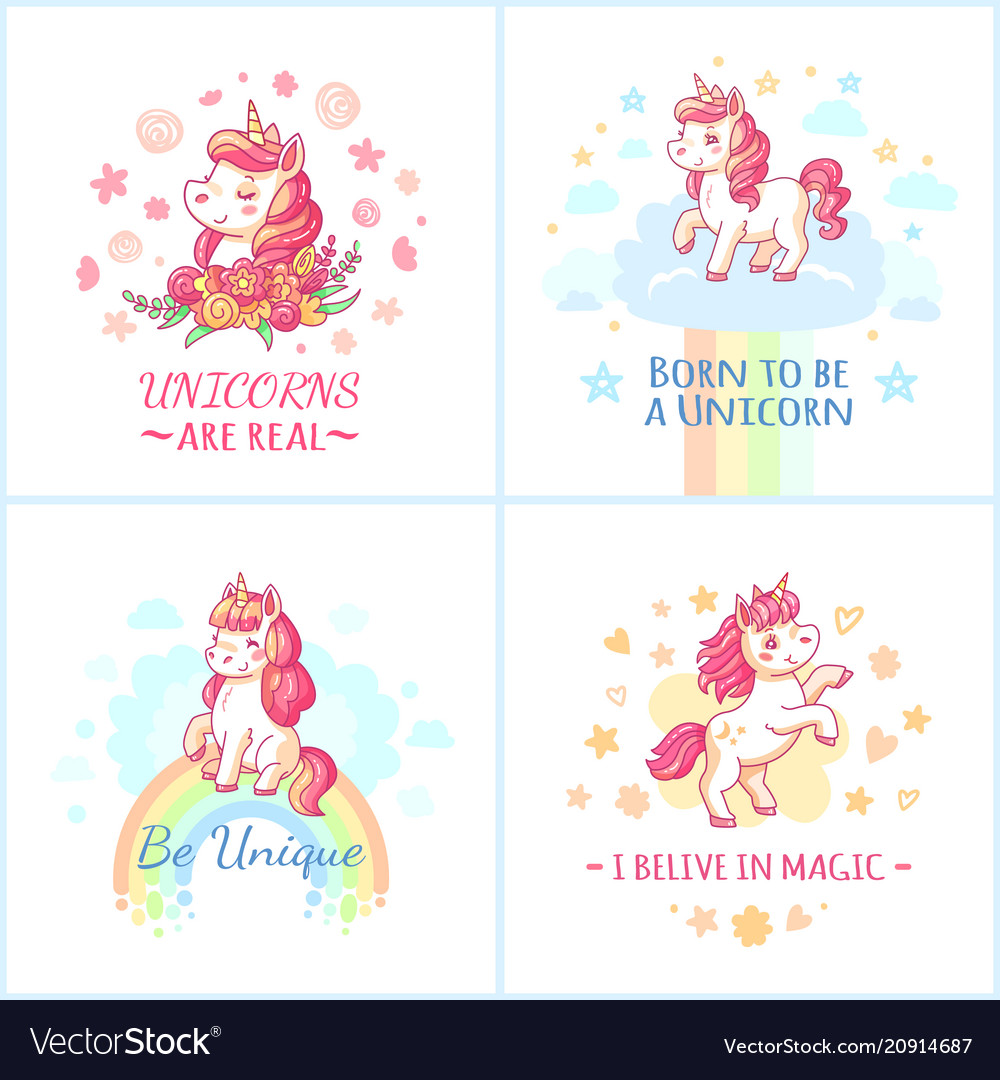 Fairy unicorn poster sweet rainbow magic unicorns