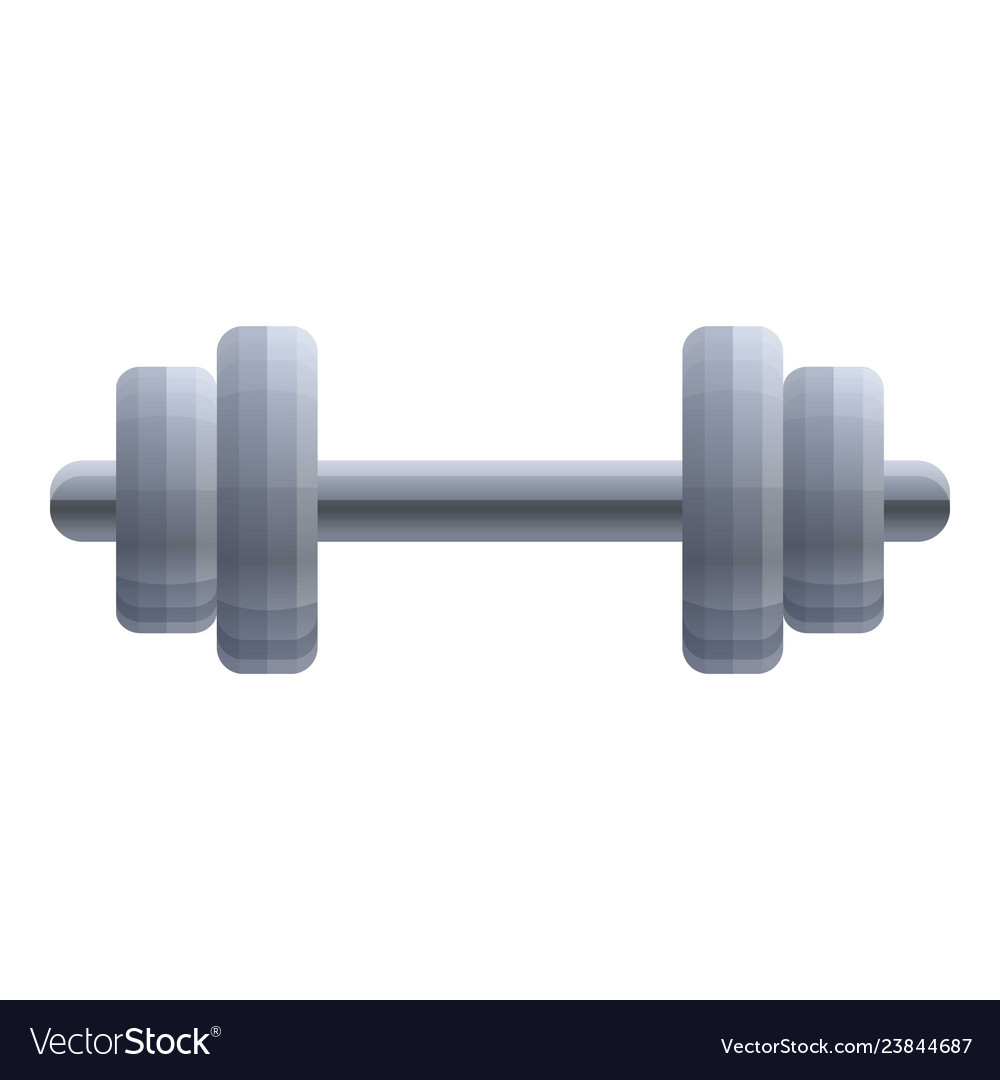 Heavy dumbell icon cartoon style