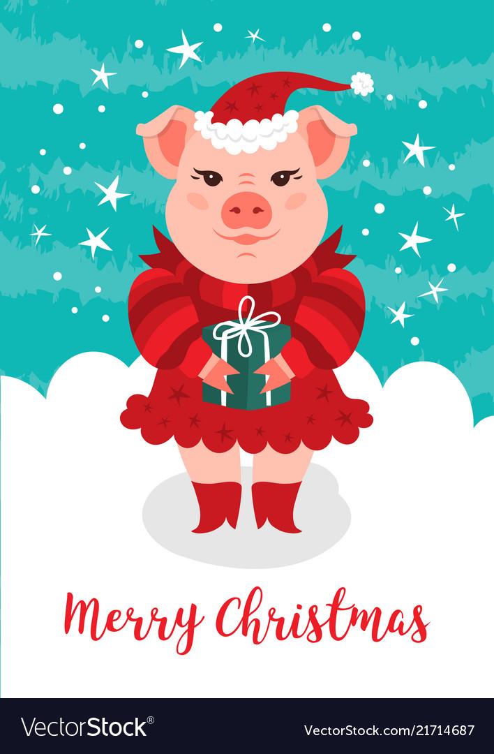 Merry christmas card funny