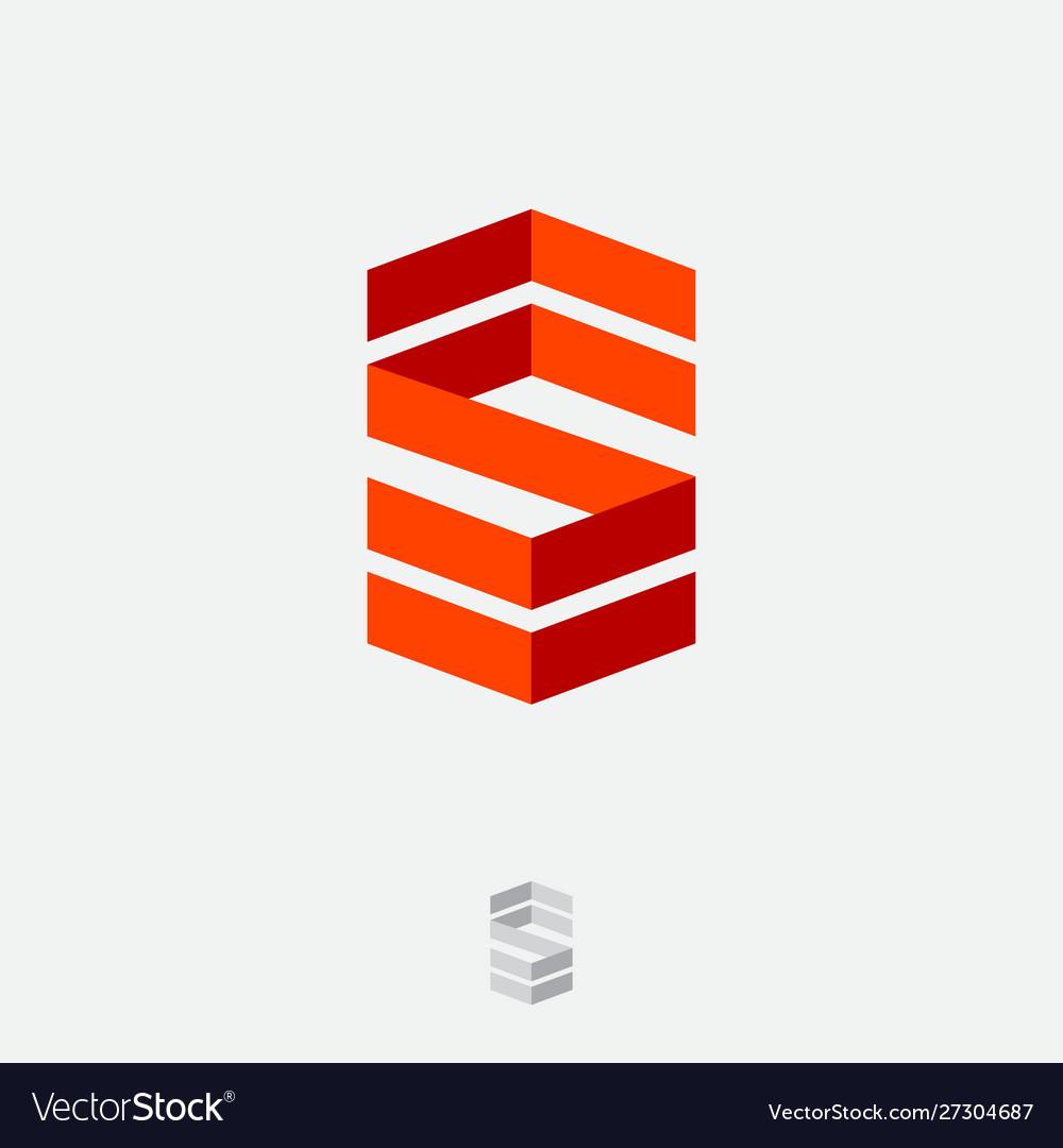 S logo monogram consist folded lines