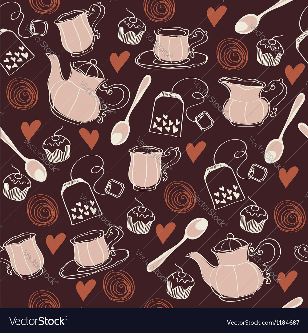 Seamless sweet tea pattern