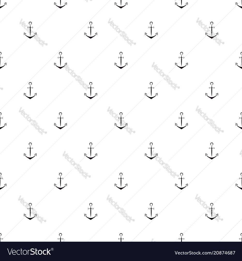 Water anchor seamless pattern design of packaging vector image