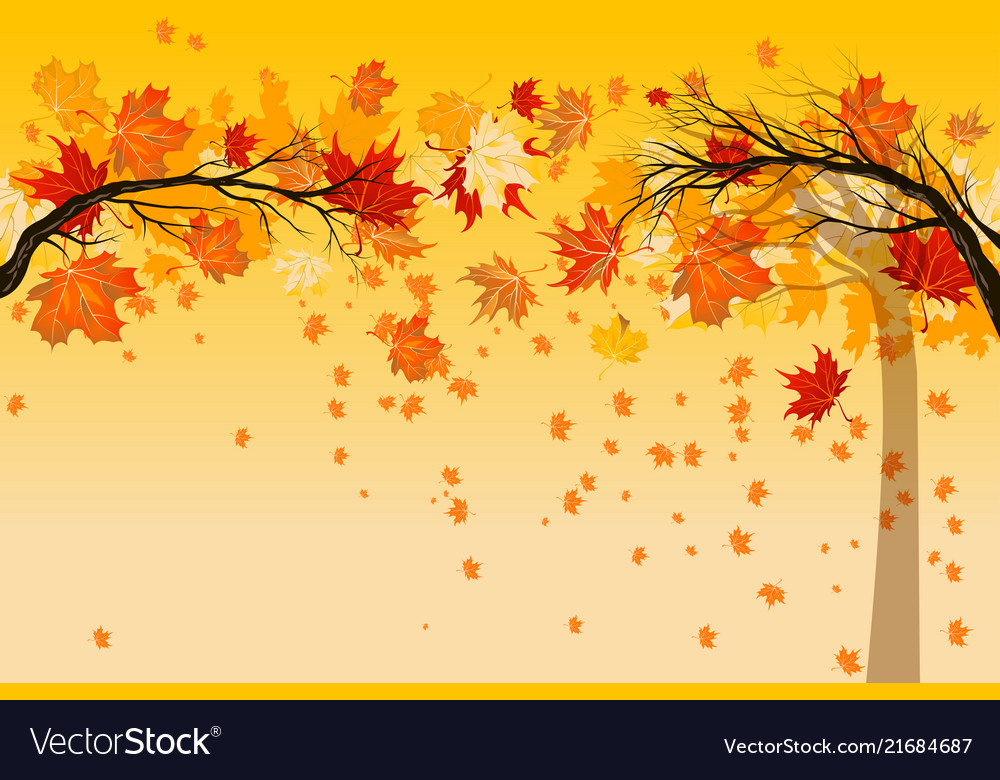 Yellow falling leaves