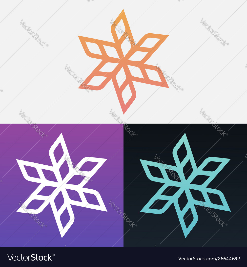 Abstract Decorative Leaves Design Clipart Symbol