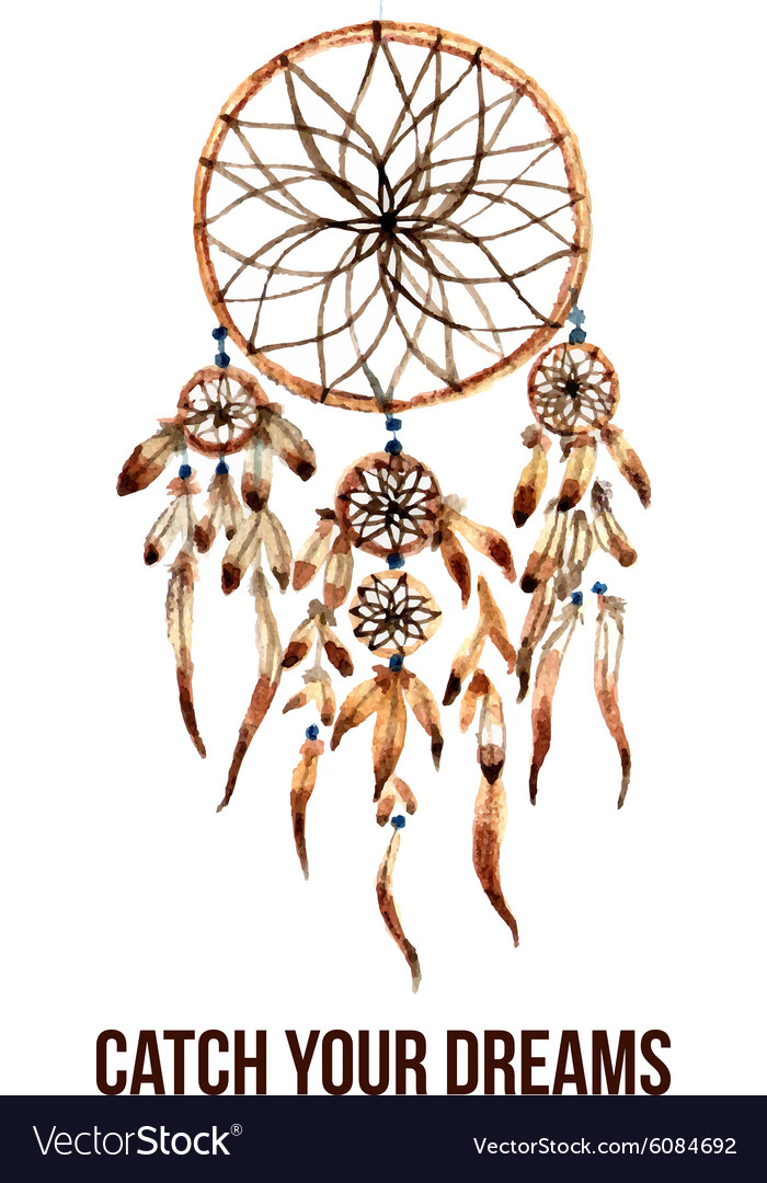 American indian dreamcatcher icon vector image