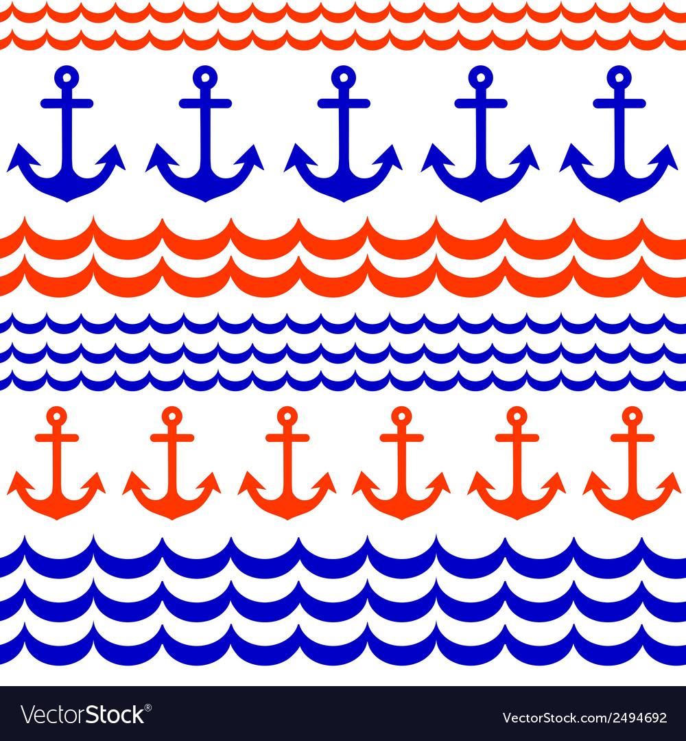 Beautiful anchor seamless