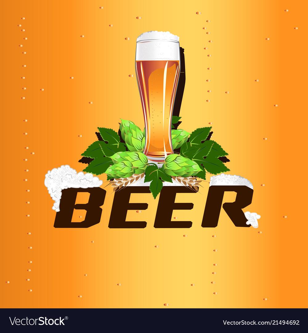 Colorful beer emblem