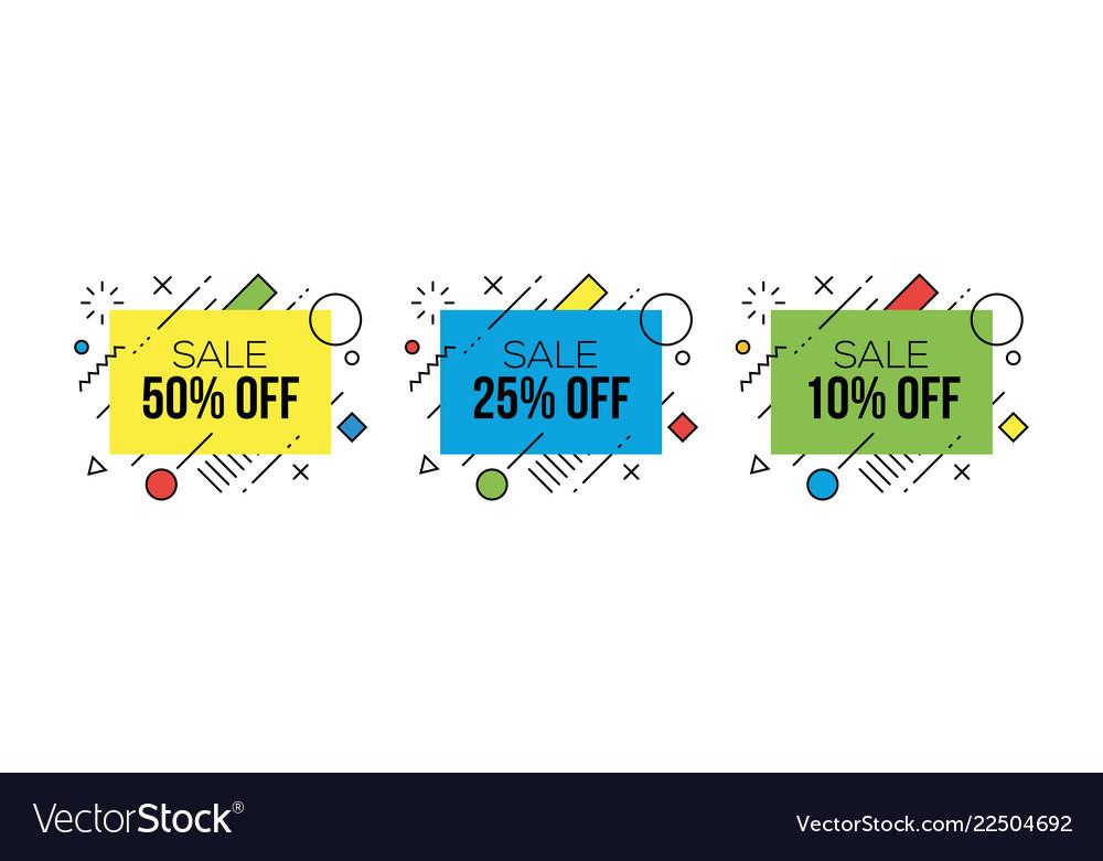 Colorful sale badges design templates