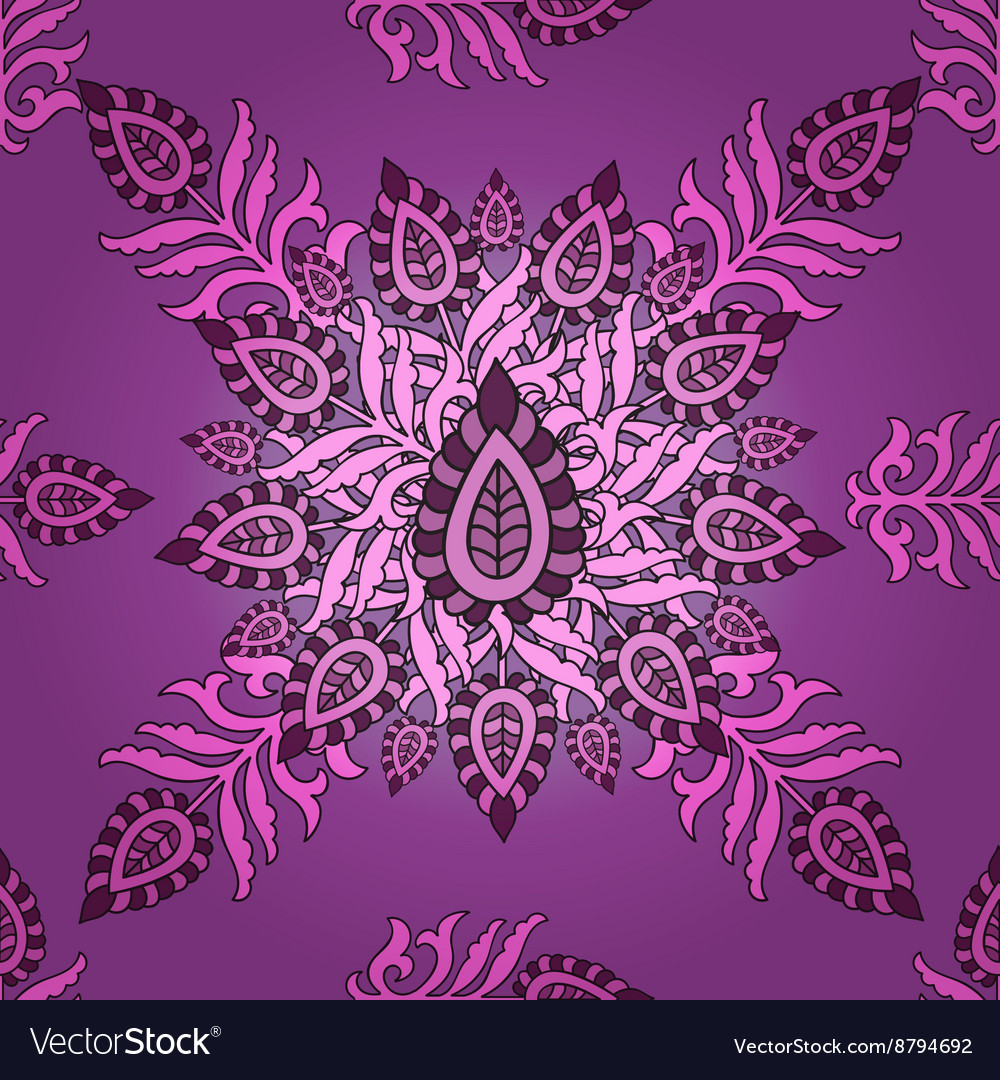 Seamless Eastern pattern Seamless floral