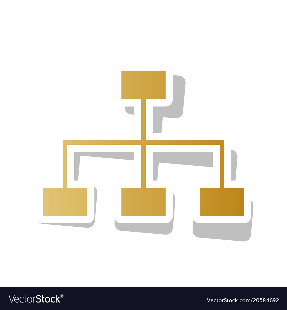 Site map sign golden gradient icon with