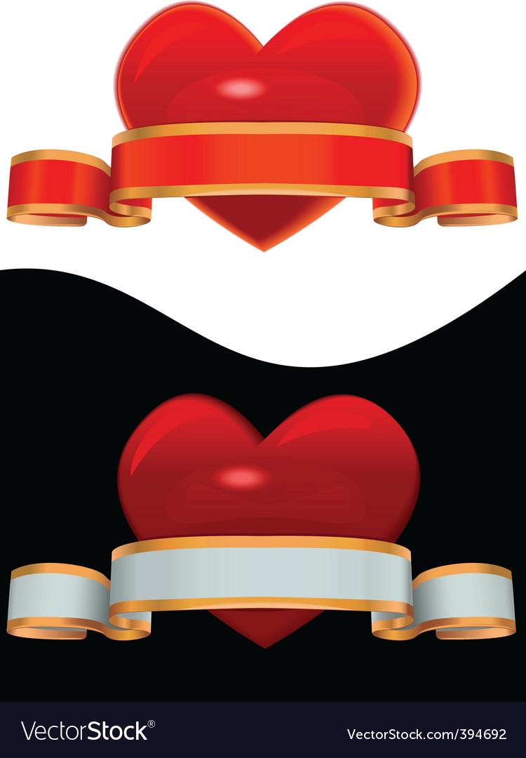 Valentines cartoon vector image