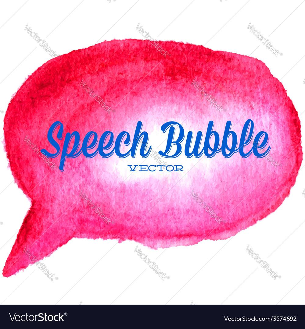 Watercolor drawn red speech bubble