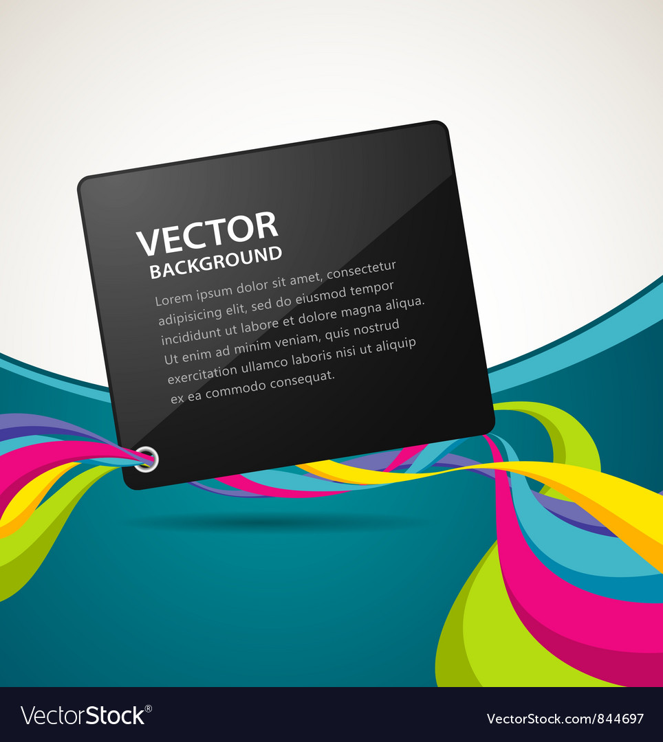 Abstract artistic colorful ribbon background vector image