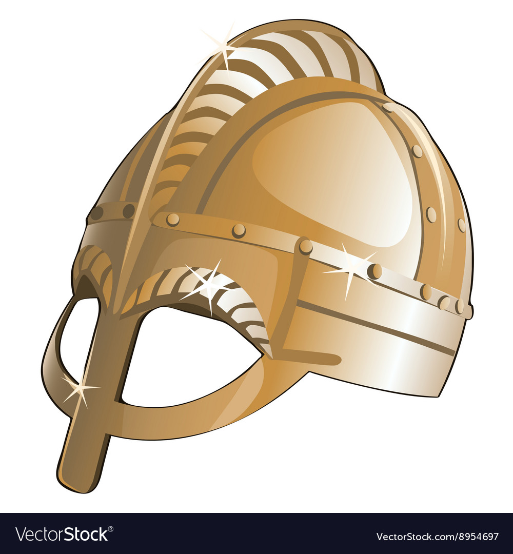 Ancient metal helmet from Sparta vector image