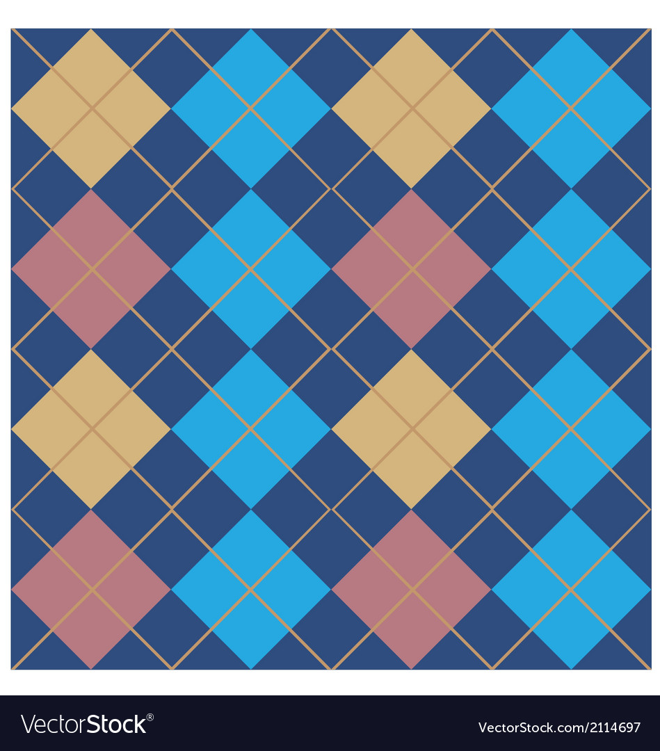 Argyle Blue Seamless Pattern Design vector image