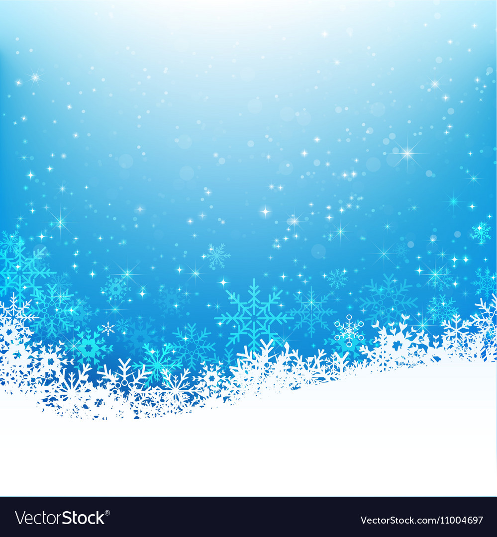 Christmas snowflake and starlight abstract