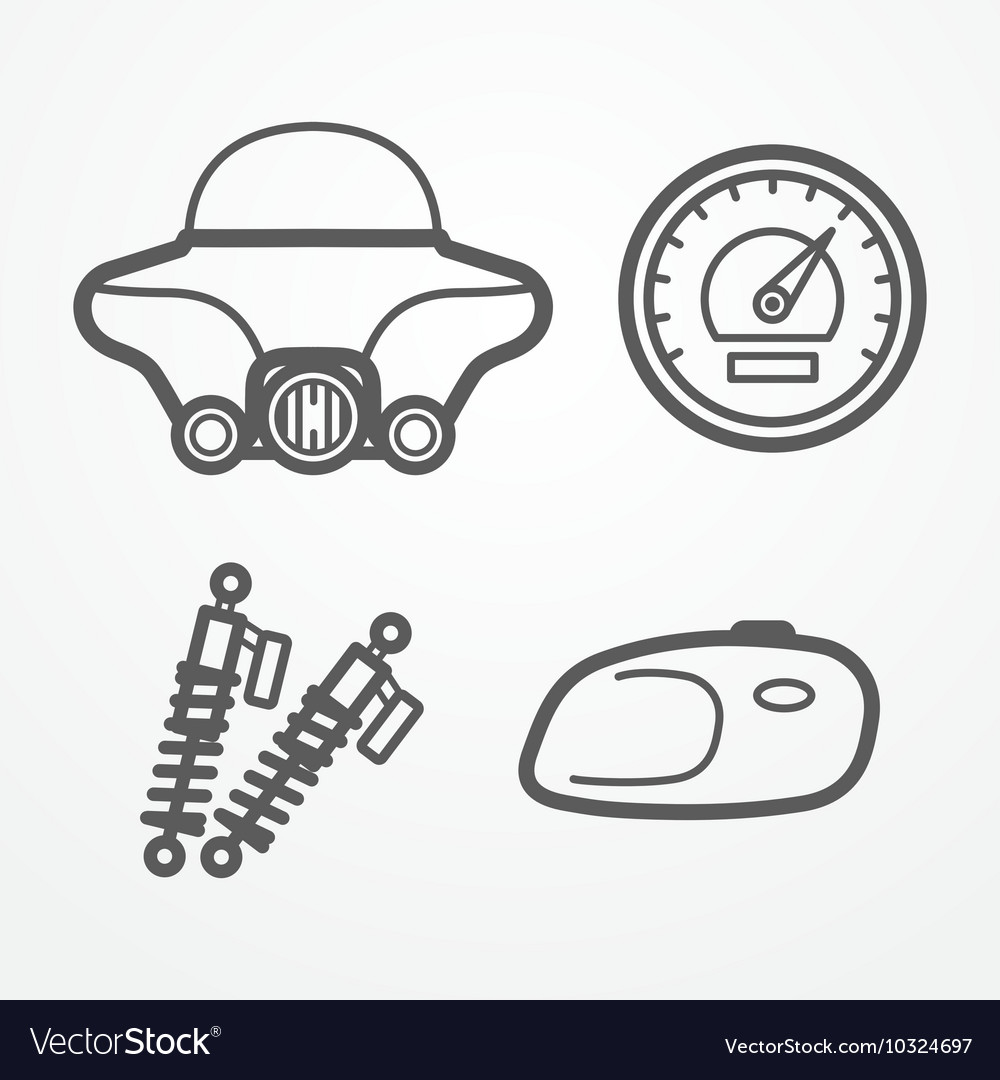 Classic motorcycle icons