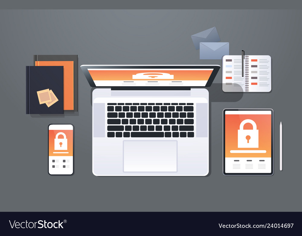 Data protection internet security padlock privacy